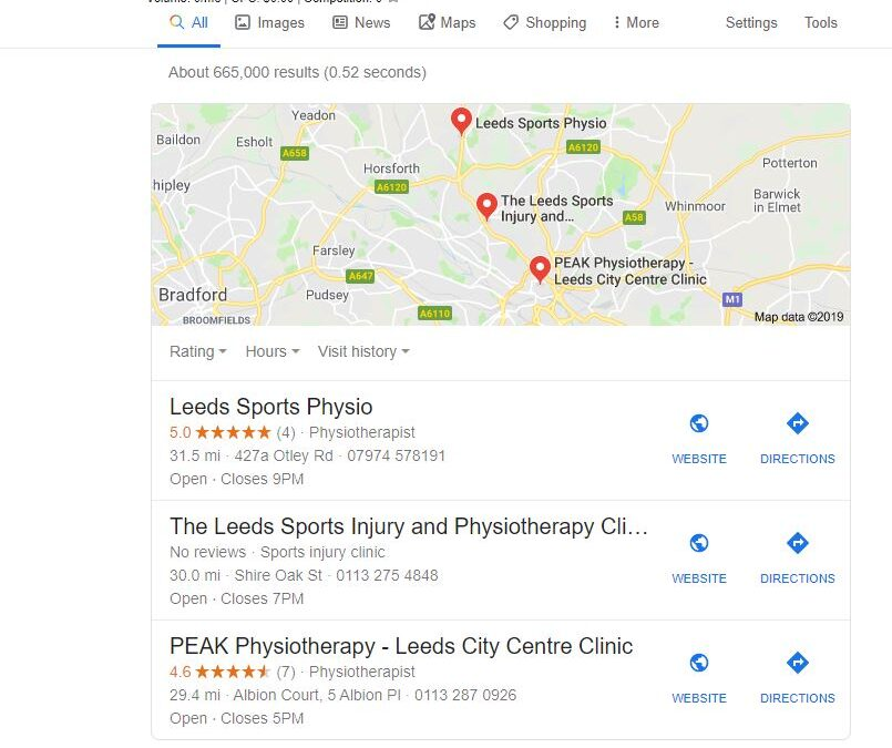 Leeds Local SEO Map
